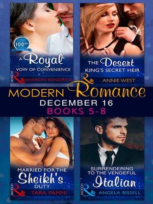 cover image of Modern Romance December 2016 Books 5-8