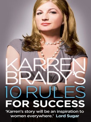 cover image of Karren Brady's 10 Rules for Success