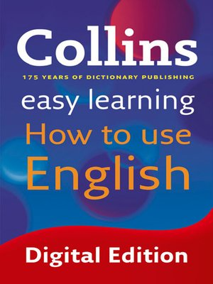 cover image of Easy Learning How to Use English (Collins Easy Learning English)
