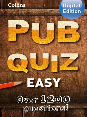 cover image of Collins Pub Quiz (Easy)