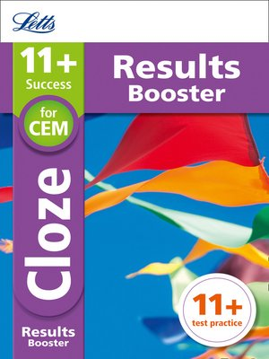 cover image of 11+ Cloze Results Booster for the CEM tests