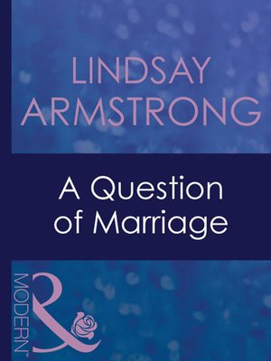 cover image of A Question of Marriage