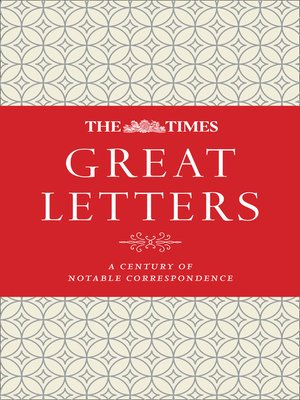 cover image of The Times Great Letters