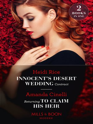 cover image of Innocent's Desert Wedding Contract / Returning to Claim His Heir