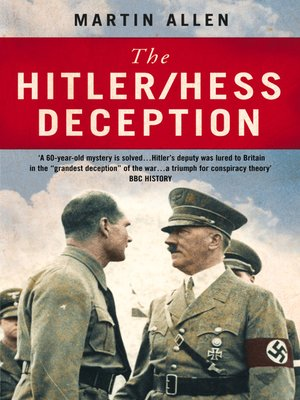cover image of The Hitler–Hess Deception