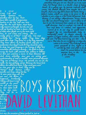 cover image of Two Boys Kissing