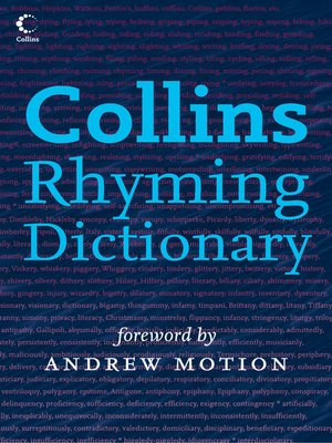 cover image of Collins Rhyming Dictionary
