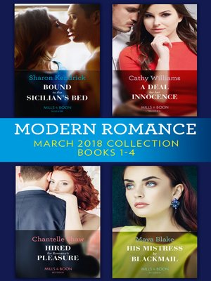 cover image of Modern Romance Collection, March 2018 Books 1--4