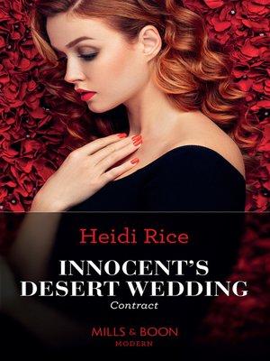 cover image of Innocent's Desert Wedding Contract