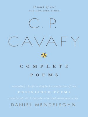 cover image of The Complete Poems of C.P. Cavafy