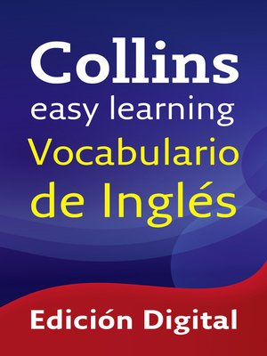 cover image of Vocabulario de inglés