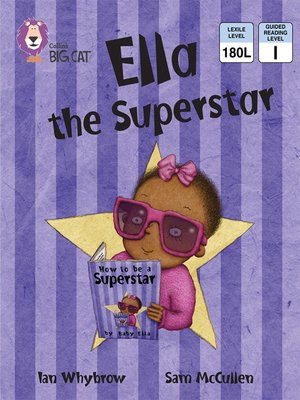 cover image of Collins Big Cat – Ella the Superstar