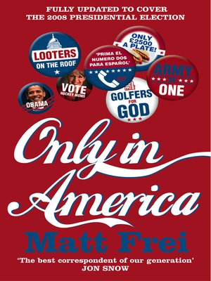 cover image of Only in America