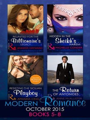 cover image of Modern Romance October 2015, Books 5-8