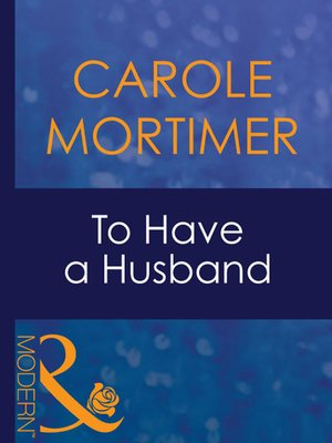 cover image of To Have a Husband
