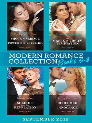 cover image of Modern Romance Books September Books 5-8