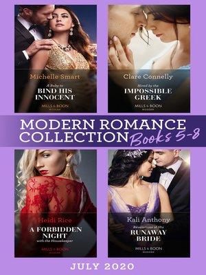 cover image of Modern Romance July Books 5-8