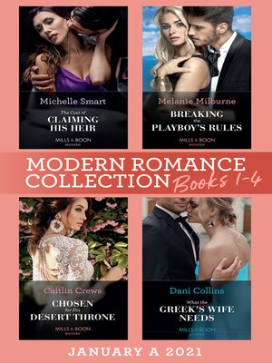 cover image of Modern Romance January 2021 a Books 1-4