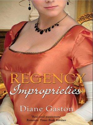 cover image of Regency Improprieties