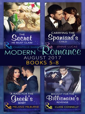 cover image of Modern Romance Collection: August 2017 Books 5 -8