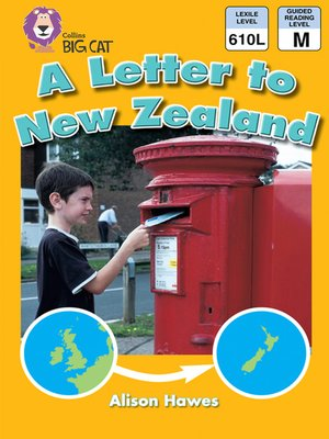 cover image of Collins Big Cat – a Letter to New Zealand