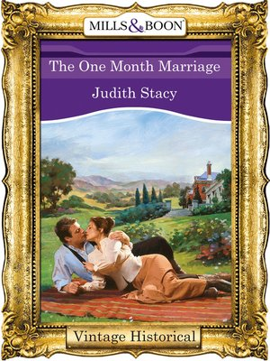 cover image of The One Month Marriage