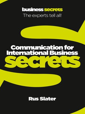 cover image of Communication For International Business