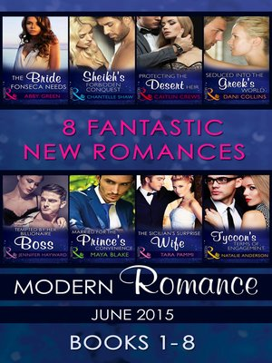 cover image of Modern Romance June 2015 Books 1-8