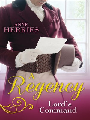 cover image of A Regency Lord's Command