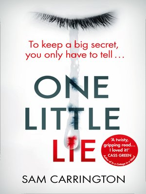 cover image of One Little Lie