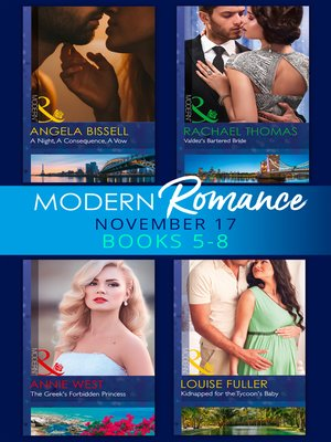 cover image of Modern Romance Collection: November 2017 Books 5-8