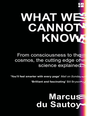 cover image of What We Cannot Know