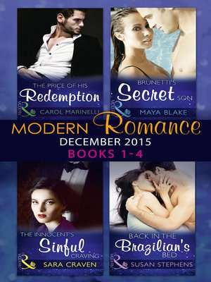 cover image of Modern Romance December 2015, Books 1-4