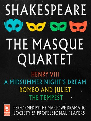 cover image of Shakespeare, The Masque Quartet