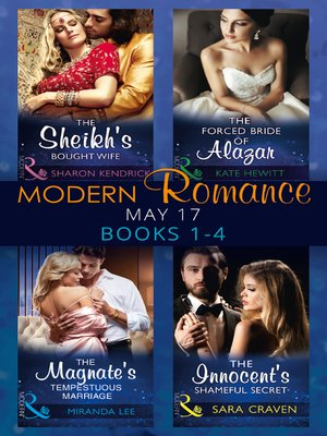 cover image of Modern Romance May 2017 Books 1--4
