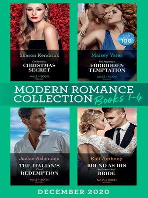 cover image of Modern Romance December 2020 Books 1-4
