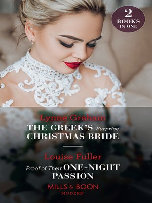 cover image of The Greek's Surprise Christmas Bride / Proof of Their One-Night Passion