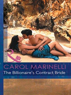 cover image of The Billionaire's Contract Bride
