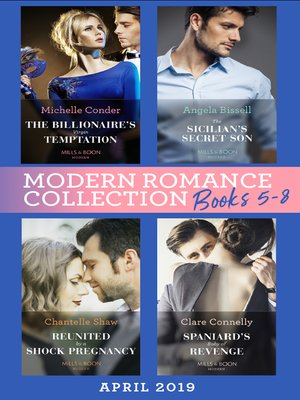 cover image of Modern Romance April 2019 Books  5-8