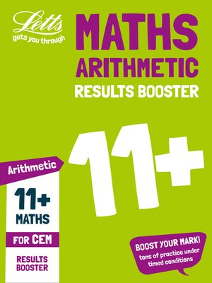 cover image of 11+ Arithmetic Results Booster for the CEM tests