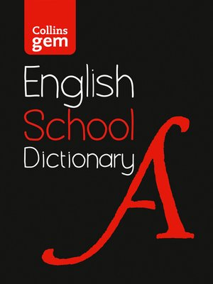 cover image of Collins Gem School Dictionary