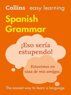 cover image of Easy Learning Spanish Grammar