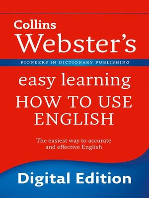 cover image of Webster's Easy Learning How to use English (Collins Webster's Easy Learning)