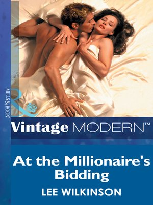 cover image of At the Millionaire's Bidding