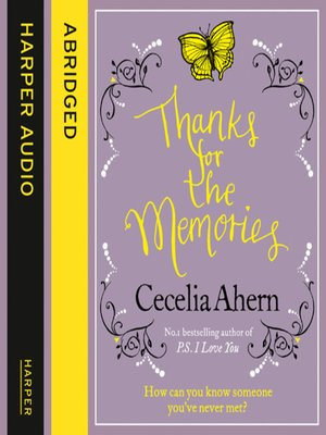 cover image of Thanks for the Memories