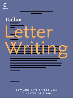cover image of Collins Letter Writing