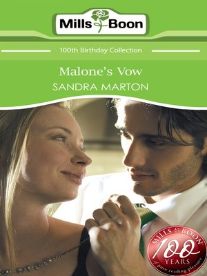 cover image of Malone's Vow