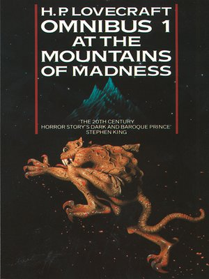 cover image of At the Mountains of Madness and Other Novels of Terror