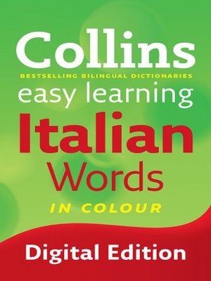 cover image of Collins Easy Learning Italian Words
