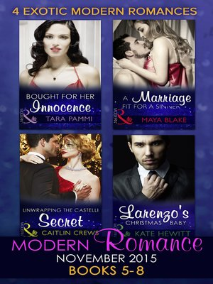 cover image of Modern Romance November 2015 Books 5-8